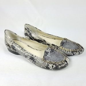 Franco Sarto Snake Print Loafer